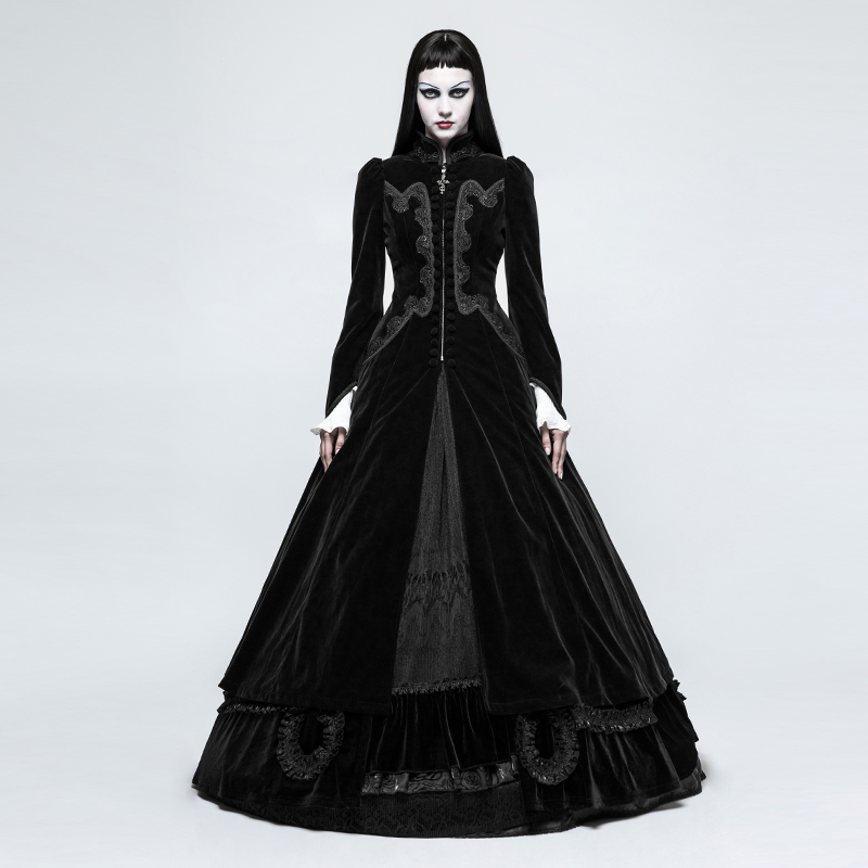 Morgana Black Gothic Ball Coat Dress from Immoral | Stay at Home Mum