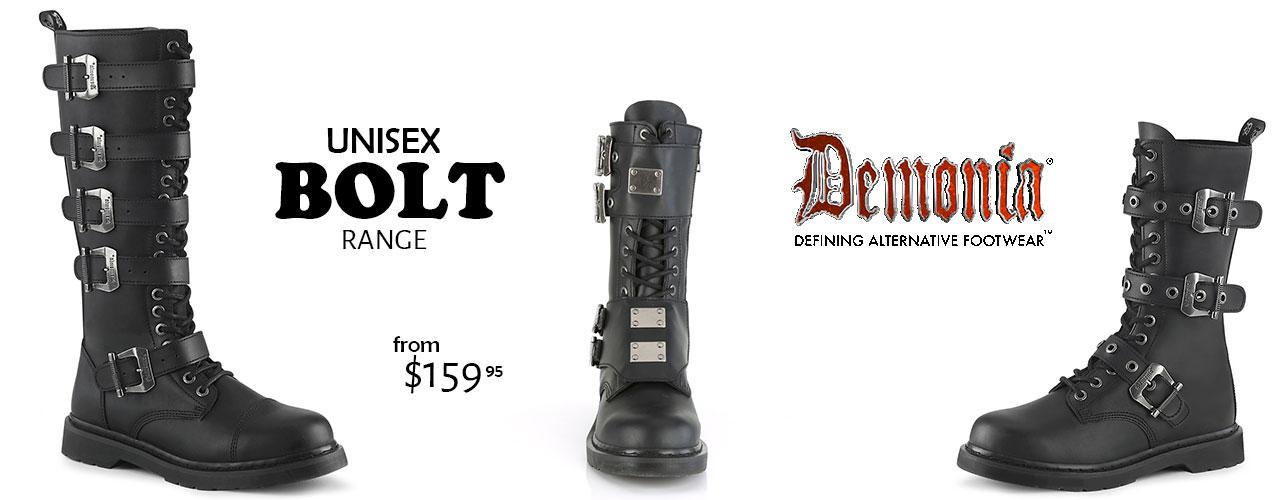 Demonia Gothic Bolt Boots