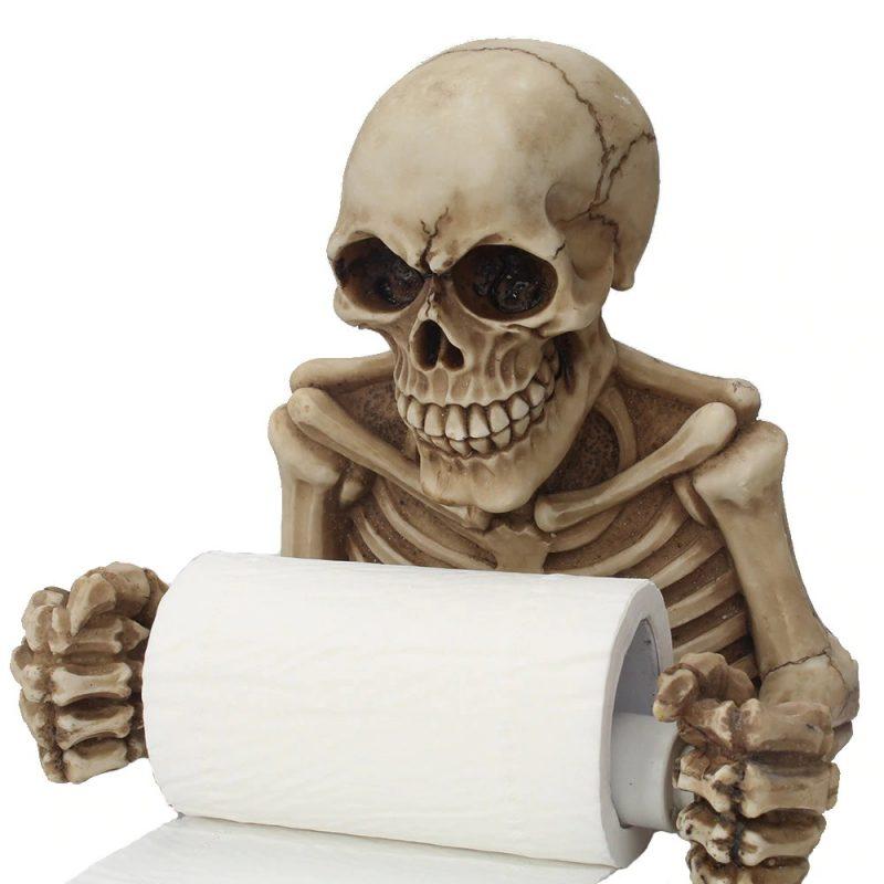 Skeleton Toilet Roll Holder